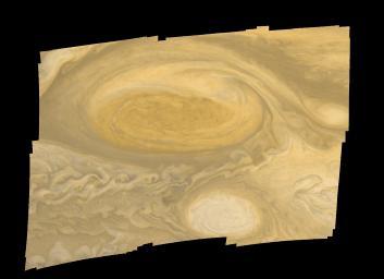 This photo of Jupiter's Great Red Spot was taken by Voyager 1 in early March 1979.