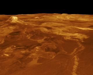 Venus - 3-D Perspective View of Estla Regio