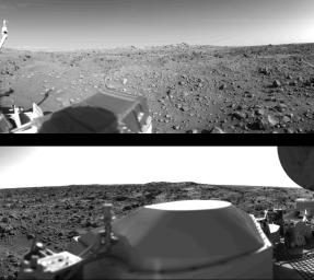 First Panoramic View From The Surface Of Mars