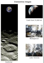 During its flight and lunar orbit, NASA�s Clementine spacecraft returned images of the planet Earth and the Moon.