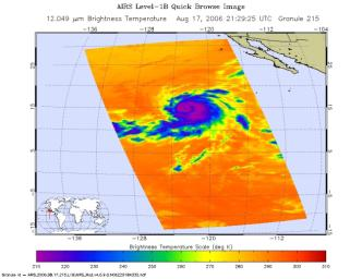 Hurricane Hector in the Eastern Pacific