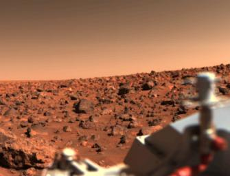 Bright Summer Afternoon on the Mars Utopian Planitia