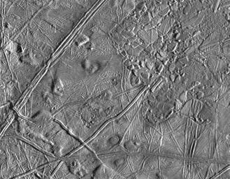 Close-up of Europa's Trailing Hemisphere