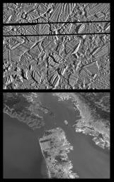 Europa Ice Rafts and similar scales on Earth