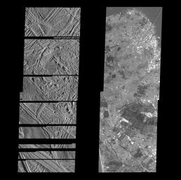 Structurally Complex Surface of Europa and similar scales on Earth