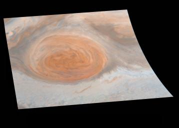 True Color of Jupiter's Great Red Spot