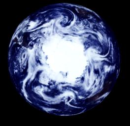 South Polar Projection of Earth