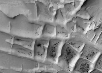 Ridges in Mars' South Polar Region