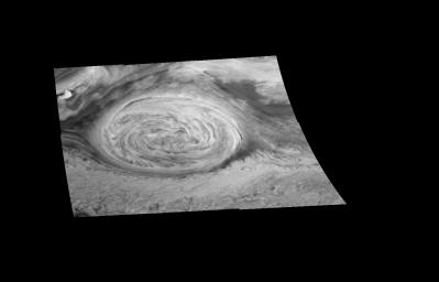 Mosaic of Jupiter's Great Red Spot (in the near infrared)