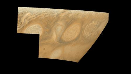 Jupiter's long-lived White Ovals in True Color (Time Set 4)
