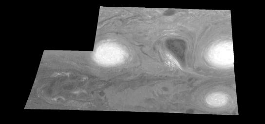 Jupiter's Long-lived White Ovals in a Methane (Time Set 3)