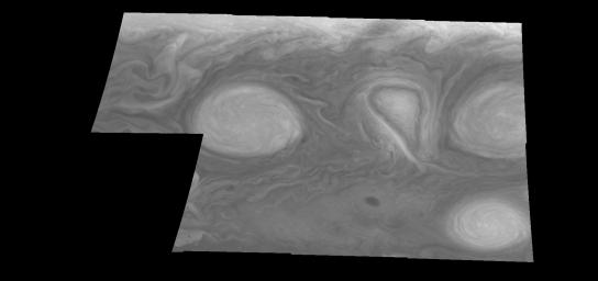 Jupiter's Long-lived White Ovals in Violet Light (Time Set 3)