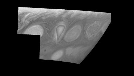 Jupiter's Long-lived White Ovals in Violet Light (Time Set 4)