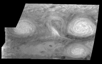 Jupiter's Long-lived White Ovals in a Methane Band (Time Set 2)