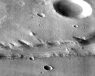 Subsection of Nirgal Vallis Image