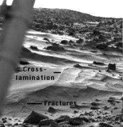Wind Drifts at Viking 1 Landing Site