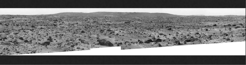 The 'Big Crater' is actually a relatively small Martian crater to the southeast of NASA's Mars Pathfinder landing site. It is 1500 meters (4900 feet) in diameter, or about the same size as Meteor Crater in Arizona. Sol 1 began on July 4, 1997.