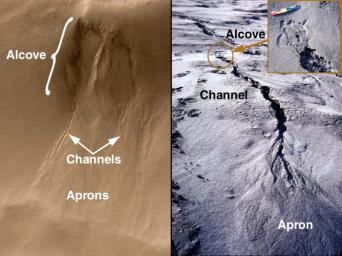 Evidence for Recent Liquid Water on Mars: Basic Features of Martian Gullies
