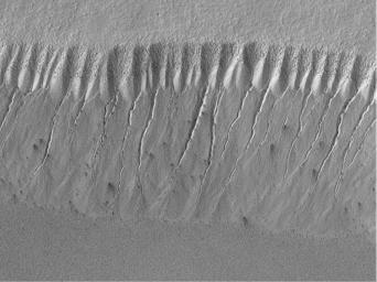 Evidence for Recent Liquid Water on Mars: Gullies at 70°S in Polar Pit Walls