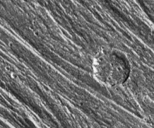 Grooves and Craters on Ganymede