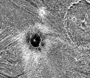 Khensu Crater on Ganymede