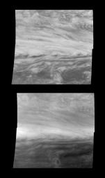 Jupiter's Belt-Zone Boundary in Near-Infrared and Violet Light