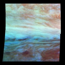 False Color Mosaic of Jupiter's Belt-Zone Boundary