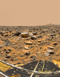 Based on the first direct measurements ever obtained of Martian rocks and terrain, scientists on NASA's Mars Pathfinder mission report in this week's Science magazine that the red planet may have once been much more like Earth.
