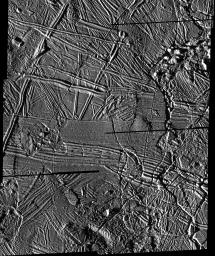 High Resolution Mosaic of Ridges, Plains, and Mountains on Europa