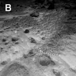 Sojourner Rover View of Well-Rounded Pebbles in