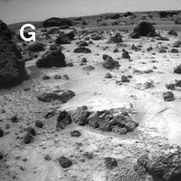 Sojourner Rover View of Cloddy Deposits near