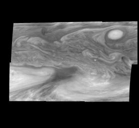 Jupiter's Equatorial Region at 727 Nanometers (Time Set 2)