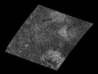 NASA's Galileo spacecraft provides a new view of this heavily cratered region in the southern hemisphere of the icy Jovian satellite Callisto. The region was not observed by NASA's Voyager spacecraft.