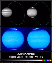 Hubble Images Reveal Jupiter's Auroras