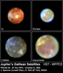 Hubble Gallery of Jupiter's Galilean Satellites