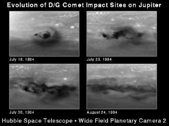 Month-long Evolution of the D/G Jupiter Impact Sites from Comet P/Shoemaker-Levy 9