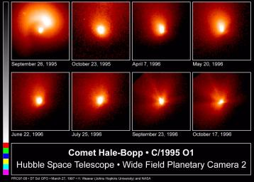 Hubble Images of Comet Hale-Bopp