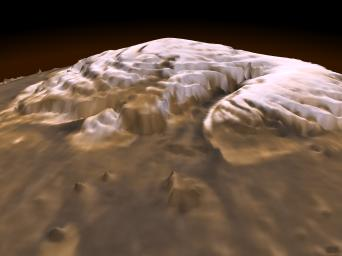 Laser Provides First 3-D View of Mars' North Pole