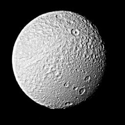 Photograph of Saturns' Satellite Tethys