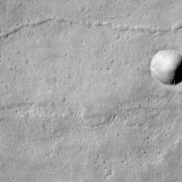 Lava Flows On Ascraeus Mons Volcano