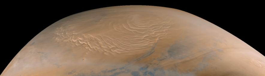 Martian North Polar Cap on September 12, 1998 (color)