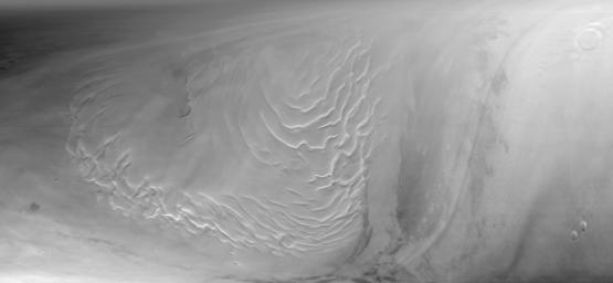 Martian North Polar Cap on September 12, 1998