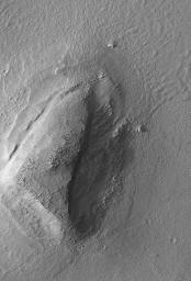 Mars Boulders: On a Hill in Utopia Planitia