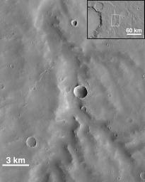 Small Valley Network Near Schiaparelli Crater