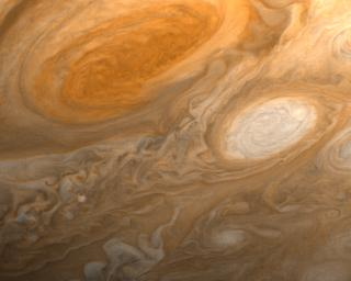 Jupiter's Great Red Spot and White Ovals