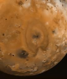 Io Surface Deposits and Volcanic Craters