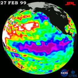 The cold pool of water in the Pacific known as La Niña still persists, although it is slowly weakening, according to scientists studying new data from NASA's U.S.-French TOPEX/Poseidon satellite.