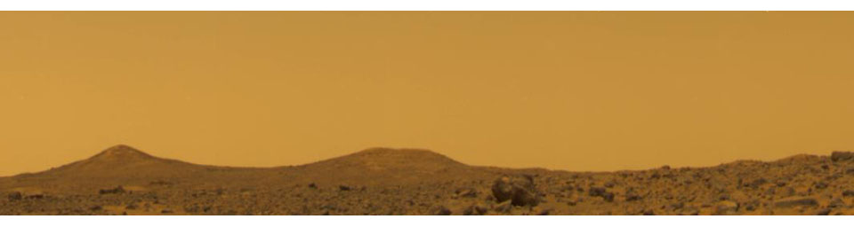 True Color of Mars - Pathfinder Sol 10 at Noon