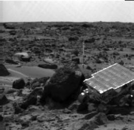 Sojourner Rover Near Half Dome - Left Eye