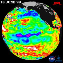 Lingering just a month ago in the eastern Pacific Ocean, the La Ni�a phenomenon, with its large volume of chilly water, barely has a pulse this month, according to new satellite data from NASA's U.S.-French TOPEX/Poseidon mission.